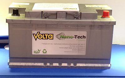 A nanotech car battery made by Volta (Photo credit: Courtesy)