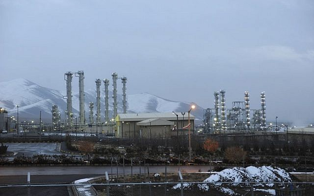 In this Jan. 15, 2011 file photo, Iran's heavy water nuclear facility is back-dropped by mountains near the central city of Arak, Iran.  (AP Photo/ISNA, Hamid Foroutan)