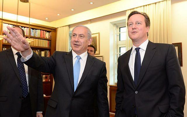 Benjamin Netanyahu, left and David Cameron in Jerusalem Wednesday. (photo credit: Kobi Gideon/GPO)