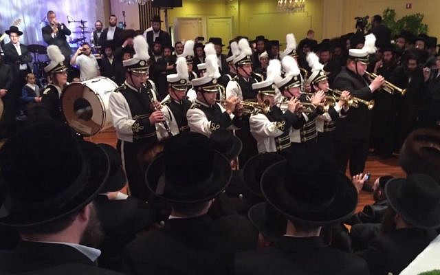 MSA's marching band performs at a local ultra-Orthodox party. (YouTube screenshot)