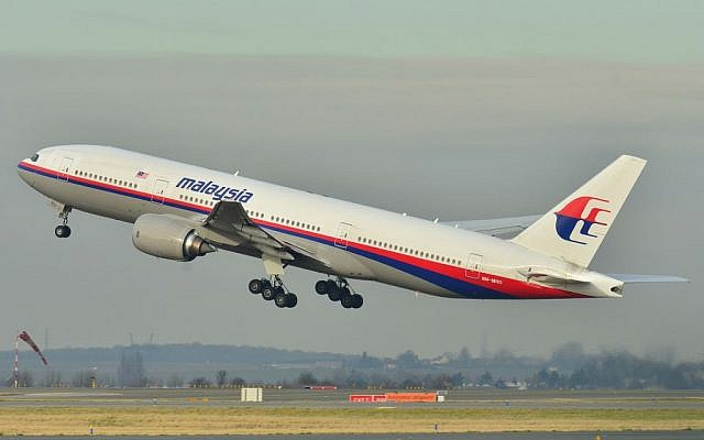 This photo taken Dec. 26, 2011, shows the Malaysia Airlines Boeing 777-200ER that disappeared from air traffic control screens Saturday, March 8, on a flight from Kuala Lumpur to Beijing. (photo credit: AP/Laurent Errera)