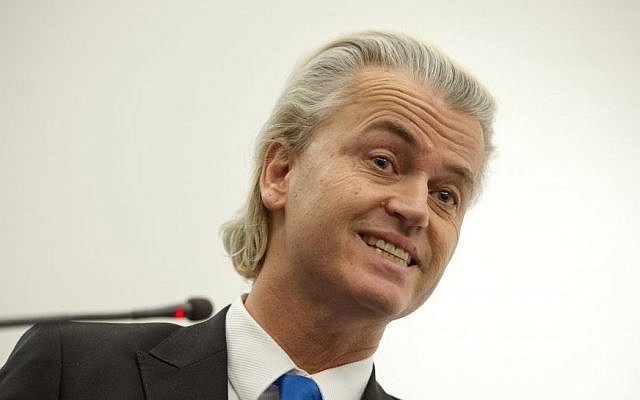 Dutch populist politician Geert Wilders during a press conference in The Hague, Netherlands. (AP/Patrick Post)