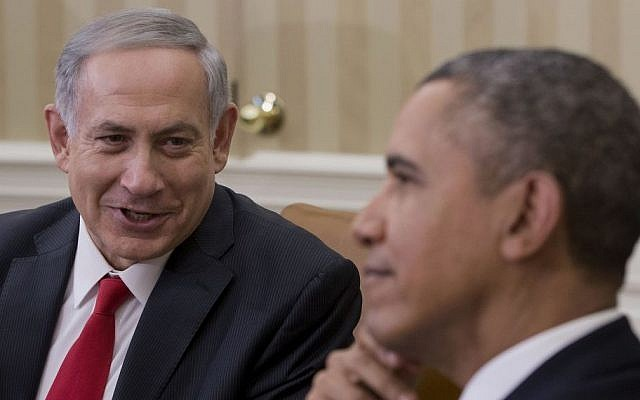 US President Barack Obama meets with Prime Minister Benjamin Netanyahu in the Oval Office of the White House in Washington, Monday, March 3, 2014 (photo credit: AP/Pablo Martinez Monsivais)