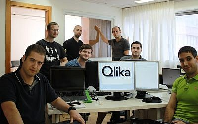 The Qlika team at their Ramat Gan offices. Priceline bought the Israeli firm earlier this year (Photo credit: Courtesy)