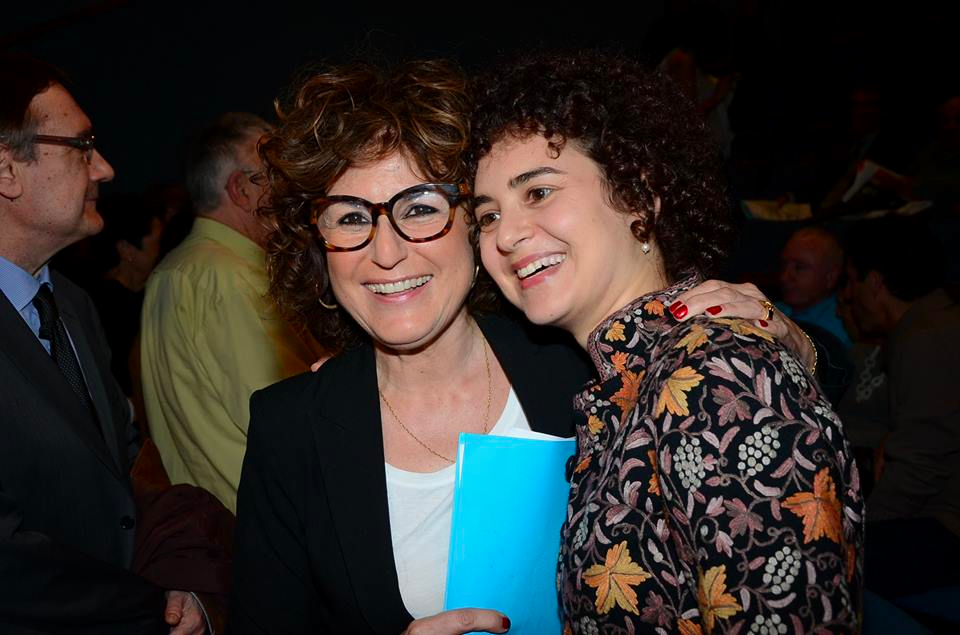 Yael Perl Ruiz, left, with curator Simona Di Nepi. (photo credit: Courtesy Beit Hatafutsot)