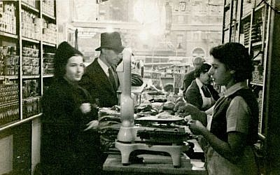 Two of the Russ daughters working in the shop, 1939. (Courtesy of Russ & Daughters)