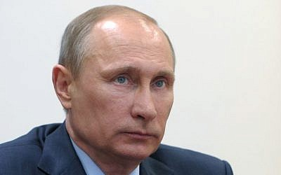 Russian President Vladimir Putin (photo credit: AP/RIA-Novosti/Alexei Druzhinin/Presidential Press Service/File)
