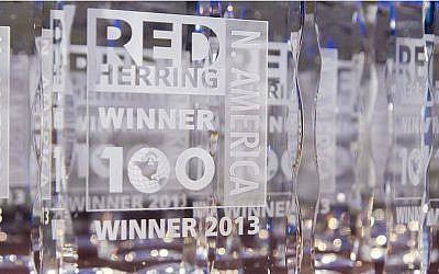 A Red Herring 100 award (Photo credit: Courtesy)
