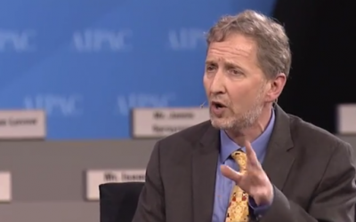 David Horovitz at AIPAC 2014 (photo credit: AIPAC video screenshot)