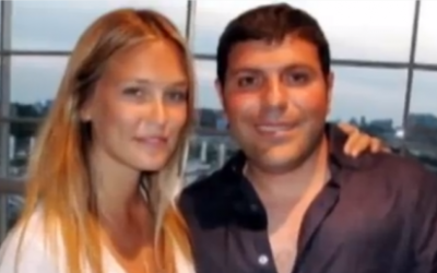 Teddy Sagi, pictured with supermodel Bar Refaeli (YouTube Screenshot)
