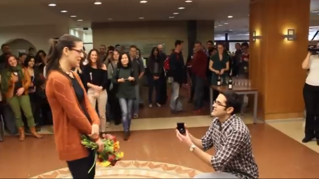 Flash Mob Marriage Proposal The Times Of Israel