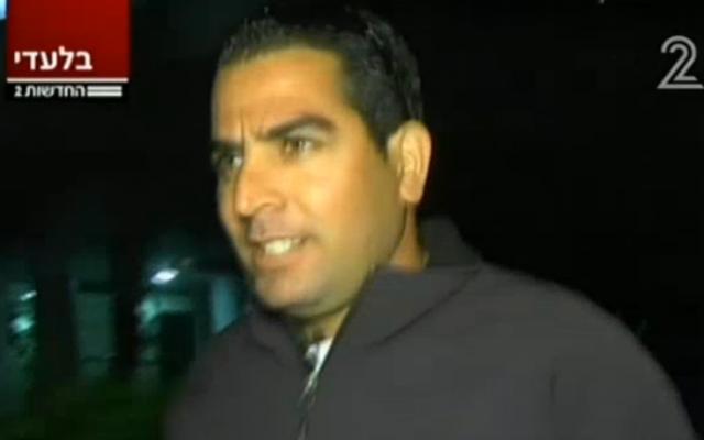 Menny Neftali (photo credit: screenshot via Channel 2)