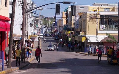 Street in Montego Bay, Jamaica. (D Ramey Logan, CC-BY-SA, via wikipedia)