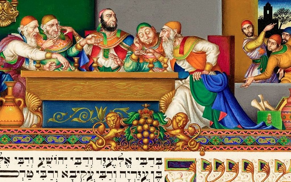 Arthur Szyk The Rabbis at B'nai B'rak (detail) Lodz, 1935 Watercolor and gouache on paper The Robbins Family Collection