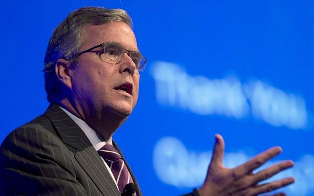 Former Florida governor Jeb Bush, a potential 2016 US presidential candidate (AP/Wilfredo Lee, File)