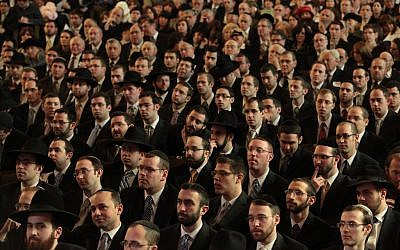 Illustrative: Yeshiva University's Chag HaSemikhah ordination celebration, in March 2010, feted 200 or so rabbis who had been ordained in the previous four years. (Yeshiva University/JTA)