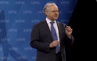 Michael Kassen, AIPAC chairman of the board (photo credit: Youtube screenshot)