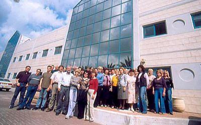 The APCO staff in front of the company's Caesaria plant. (photo credit: APCOAviation.com)