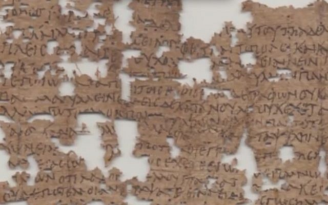 A letter from Egyptian soldier Aurelius Polion to his family (Photo credit: Youtube screen capture)