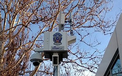 One of the HD digital video cameras deployed as part of the Total Recall surveillance system on Liberty Island (Photo credit: Courtesy)