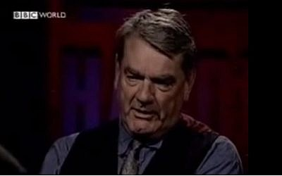 Holocaust denying writer and historian David Irving (screen capture: YouTube)