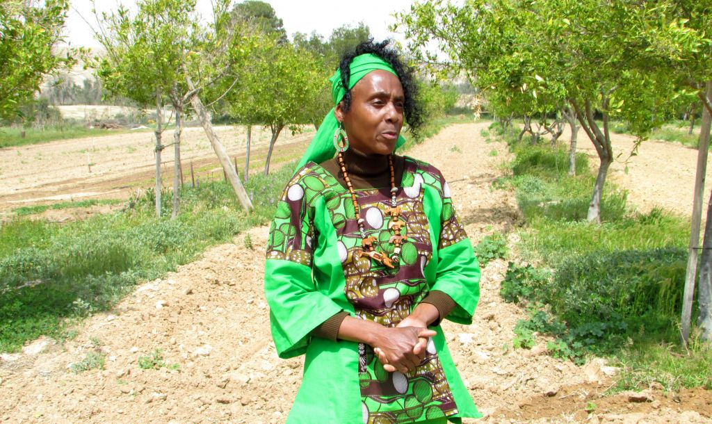 Devorah Bahti Yisrael came to Dimona from Cleveland 40 years ago. Now she works in the organic farms. (photo credit: Debra Kamin/Times of Israel)