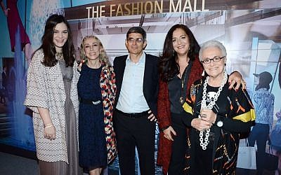 From left: Teresa Missoni, Franca Sozzani, Zeev Stein,  Angela Missoni and Rosita Missoni. (photo credit: courtesy of TLV Fashion Week)