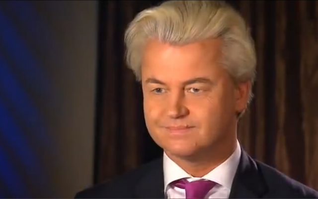 Right-wing Dutch politician Geert Wilders (screen capture: YouTube)