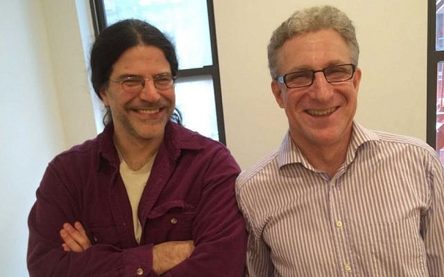 David Kaplan (left) and Mark Levinson, the creators of 'Particle Fever' (Jordan Hoffman/The Times of Israel)