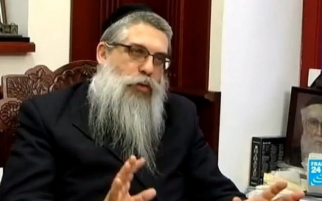 Rabbi Yaakov Dov Bleich (Photo credit: Youtube screen capture)