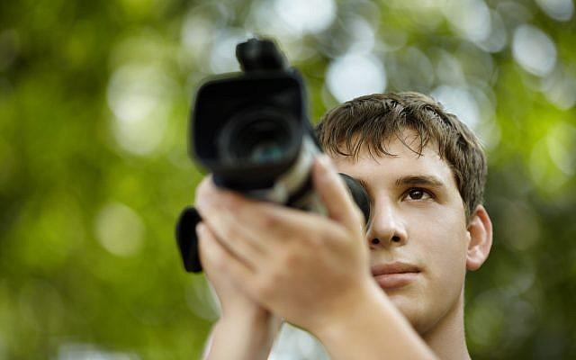 A film student - illustrative (camera.)