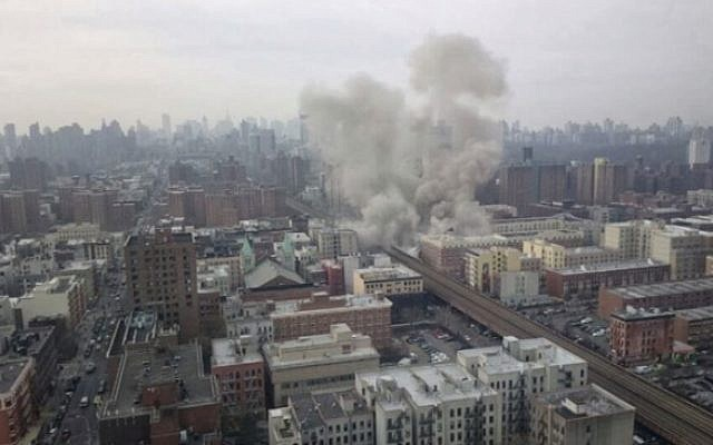 Explosion in East Harlem (photo credit: Youtube screenshot)