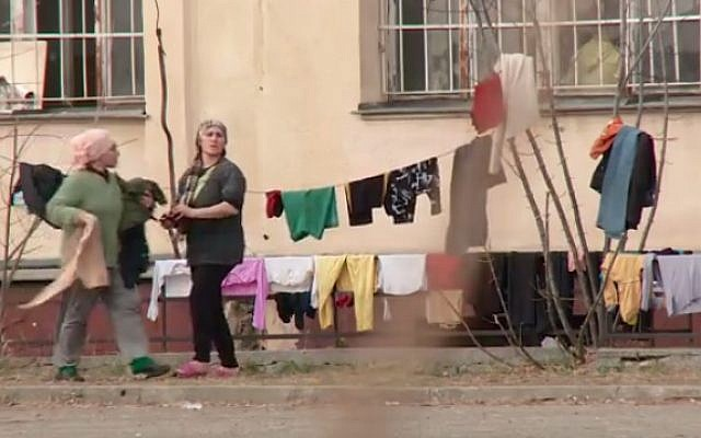 Syrian refugees in Bulgaria (photo credit: Youtube screenshot)