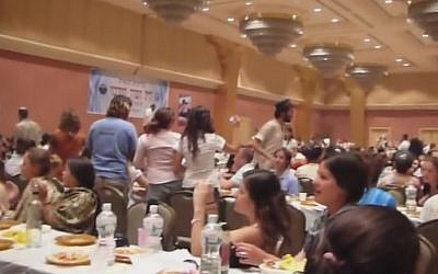 A previous Seder at the Chabad-Lubavitch center in Nepal (Photo credit: Youtube screenshot)