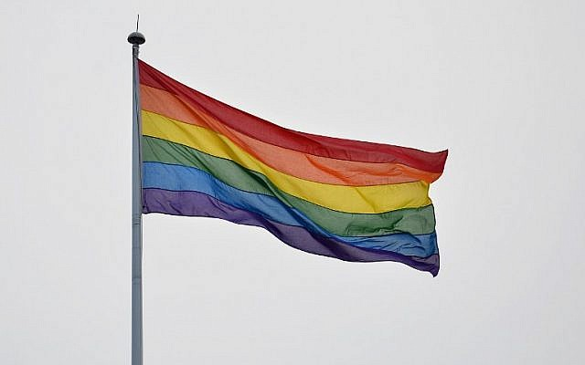 A rainbow gay pride flag.  (AFP/BEN STANSALL)