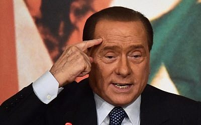 Italian three-time premier and leader of center-right party Forza Italia, Silvio Berlusconi (AFP/Gabriel Bouys)
