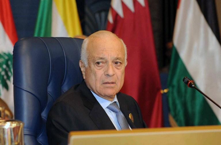 Arab League Secretary-General Nabil Elaraby on March 25, 2014 (photo credit: AFP /Yasser al-Zayyat)