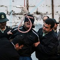 Illustrative photo of an execution in Iran. (AFP/Arash Khamooshi/ISNA)