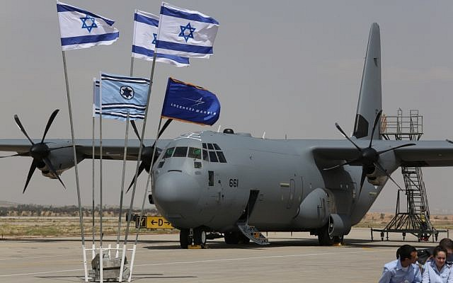 The first of a fleet of three C-130Js arrived at Nevatim Air Base in southern Israel on Tuesday (photo credit: courtesy Diego Mitelberg)