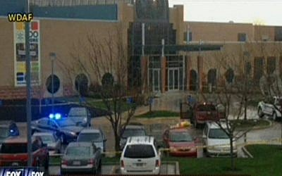 The Overland Park Jewish Community Center of Kansas City in April. (screen capture: Fox News)