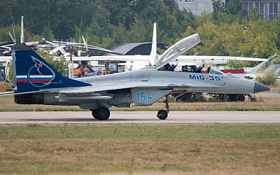 A MiG-35 at an airshow. (photo credit: CC BY Sergey Vladimirov, Flickr)
