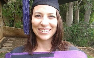 Lydia Labuschagne at her graduation. (photo credit: Facebook)