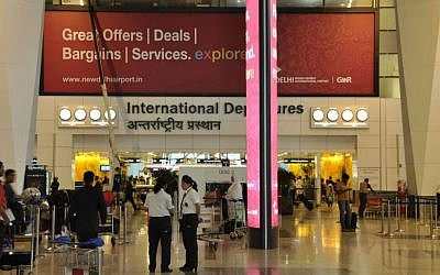Interior of the Indira Gandhi International Airport in New Delhi, India. (photo credit: rajkumar1220, Wikimedia Commons)