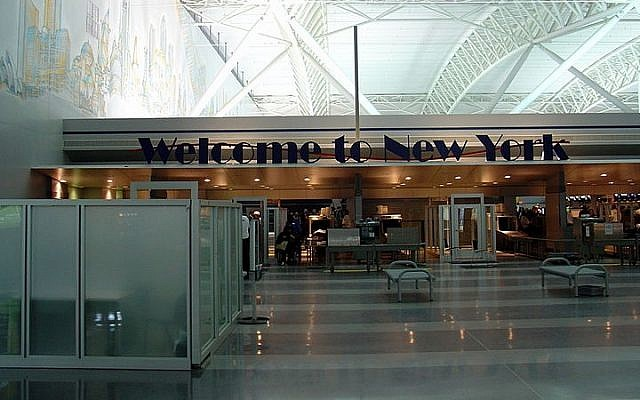 Terminal 9 at JFK International Airport in New York (photo credit: Martin St-Amant/Wikimedia Commons/File)