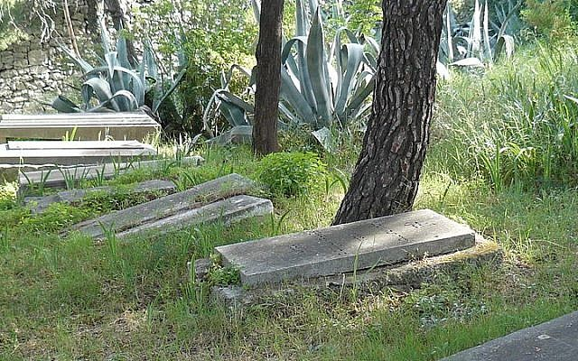 Illustrative photo of headstones in the Jewish cemetery in Split, Croatia (photo credit: MOs810/Wikimedia Commons/File)