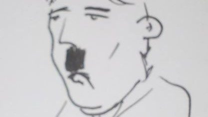 An image uploaded to the 'Officers Draw Hitler' Facebook page (screen capture)