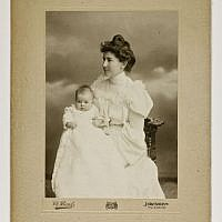 Bertha Spafford Vester and Baby, c. 1905 (Chalil Raad Photographer, Jerusalem/Photographic print/American Colony Archive Collections )