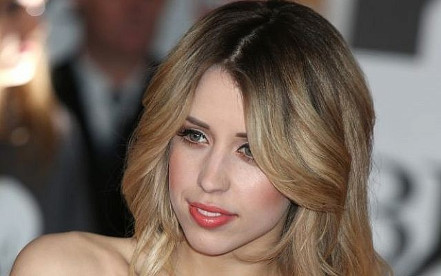 Peaches Geldof arrives at the BRIT Awards 2014 at the O2 Arena in London on Wednesday, Feb. 19, 2014. (Photo credit: Jon Furniss Photography/Invision/AP)