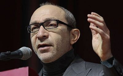 Kharkiv mayor Hennady Kernes speaking in February.  (photo credit: AP/Sergei Chuzavkov)