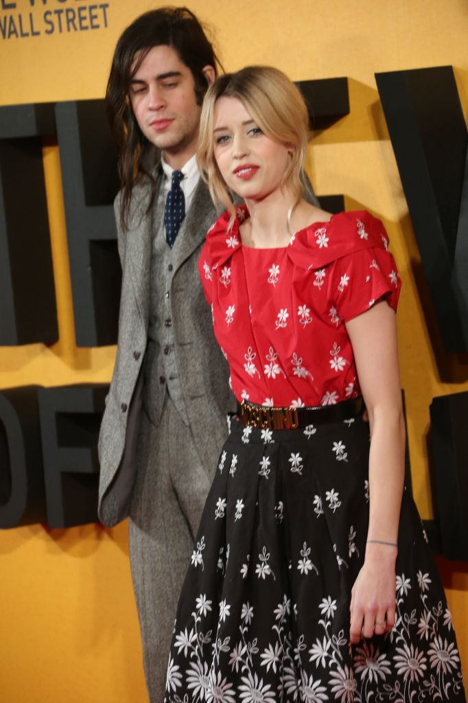 Peaches Geldof and Thomas Cohen arrive for the UK Premiere of The Wolf Of Wall Street, at a Leicester Square cinema in central London, Thursday, Jan. 9, 2014. (Photo credit: Joel Ryan/Invision/AP)